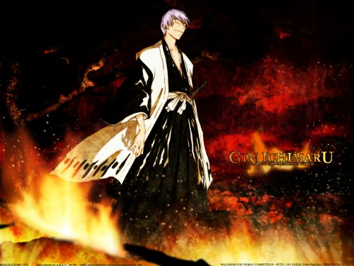 Kubo Tite, Studio Pierrot, Bleach, Gin Ichimaru Wallpaper