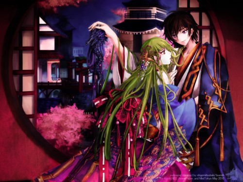 CLAMP, Lelouch of the Rebellion, C.C., Lelouch Lamperouge Wallpaper