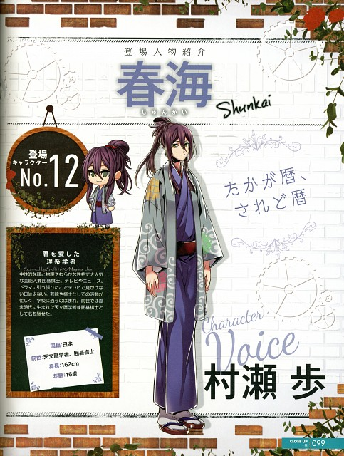 TMS Entertainment, Link-a-Nation, Shunkai (Link-a-Nation), Character Sheet, Magazine Page