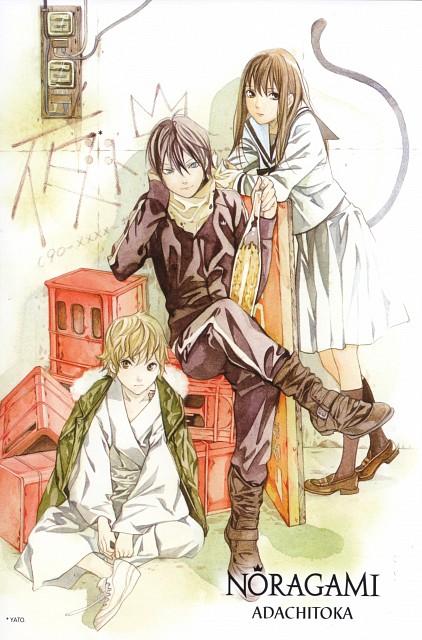Toka Adachi, Noragami, Yukine (Noragami), Hiyori Iki, Yato (Noragami)