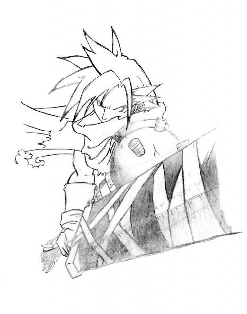 Square Enix, Kingdom Hearts, Cloud Strife, Member Art
