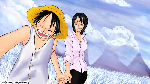 Eiichiro Oda, Toei Animation, One Piece, Monkey D. Luffy, Nico Robin Wallpaper