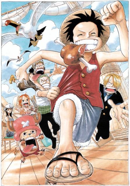 Eiichiro Oda, Toei Animation, One Piece, Color Walk 4 - Eagle, Going Merry