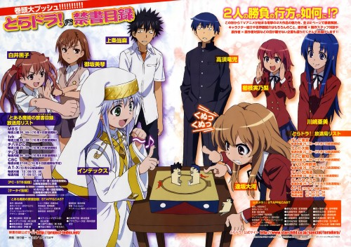 J.C. Staff, To Aru Kagaku no Railgun, To Aru Majutsu no Index, Toradora!, Touma Kamijou