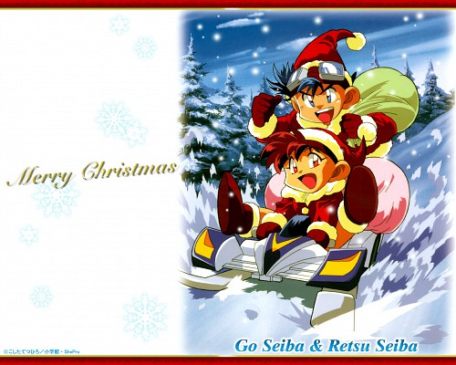 Bakusou Kyoudai Lets and Go, Go Seiba, Retsu Seiba, Official Wallpaper