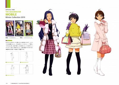 Namco, Annindofu Illustration Works - Brilliant Idol, Idol Master, Makoto Kikuchi, Azusa Miura