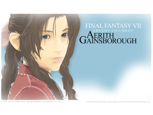 Square Enix, Final Fantasy VII: Advent Children, Final Fantasy VII, Aerith Gainsborough Wallpaper