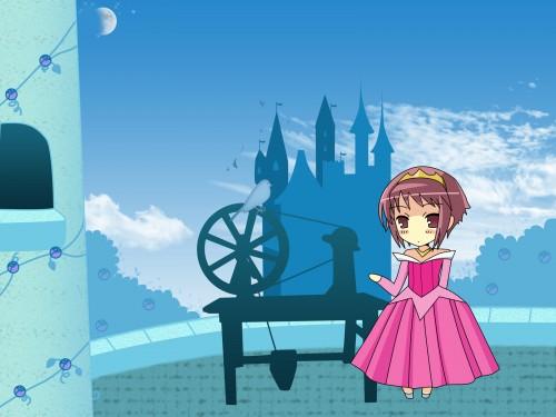 Noizi Ito, Kyoto Animation, The Melancholy of Suzumiya Haruhi, Yuki Nagato, Mikuru Asahina Wallpaper