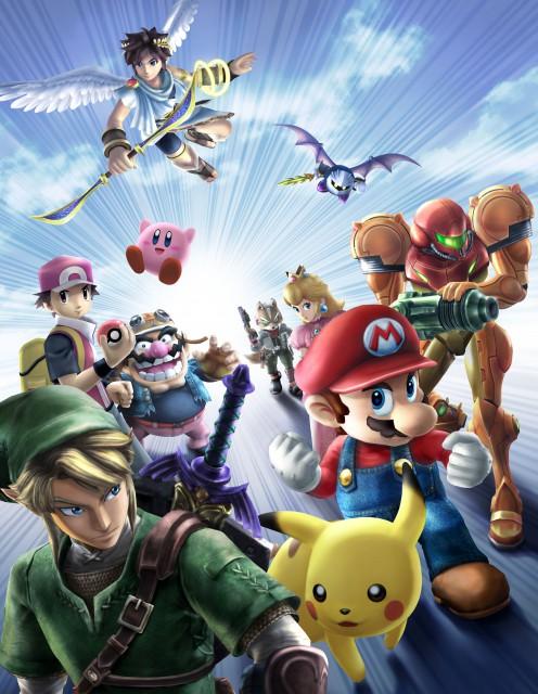 Nintendo, Super Smash Bros. Brawl, Pikachu, Meta Knight, Mario (Character)