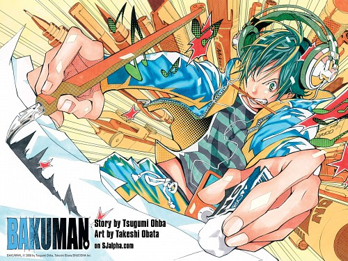 Takeshi Obata, Bakuman, Moritaka Mashiro, Official Wallpaper