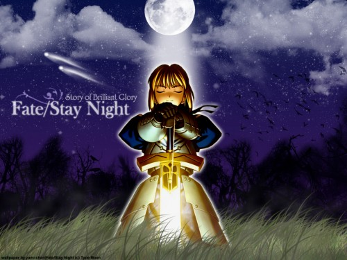 TYPE-MOON, Fate/stay night, Saber Wallpaper