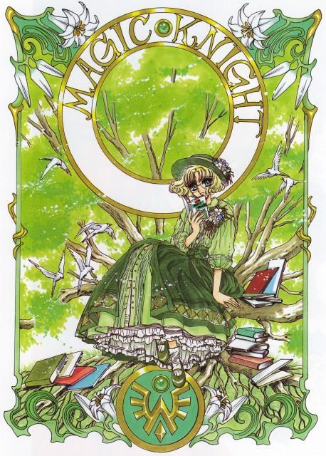 CLAMP, TMS Entertainment, Magic Knight Rayearth, Magic Knight Rayearth Illustrations Collection, Fuu Hououji