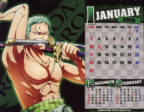 Eiichiro Oda, Toei Animation, One Piece, One Piece Body Calendar 2016, Roronoa Zoro