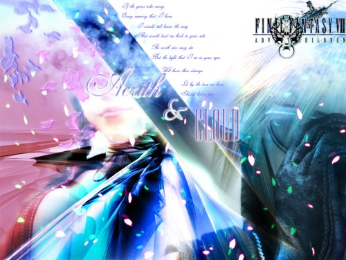 Final Fantasy VII: Advent Children, Final Fantasy VII, Aerith Gainsborough, Cloud Strife Wallpaper