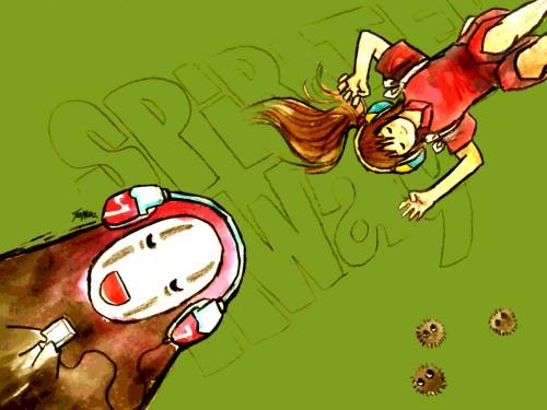 Studio Ghibli, Spirited Away, Chihiro Ogino, Kaonashi Wallpaper
