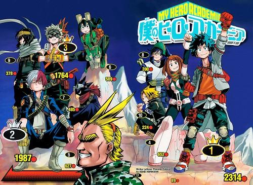 Kouhei Horikoshi, Boku no Hero Academia, Denki Kaminari, Toshinori Yagi, Tenya Lida