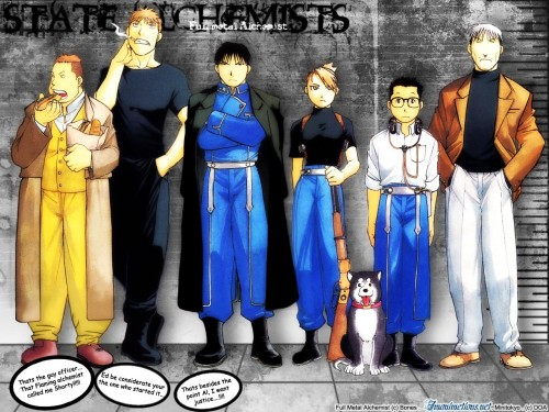 Hiromu Arakawa, BONES, Fullmetal Alchemist, Vato Falman, Black Hayate Wallpaper