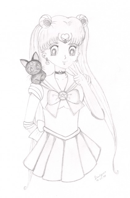 Toei Animation, Bishoujo Senshi Sailor Moon, Sailor Moon, Luna, Member Art