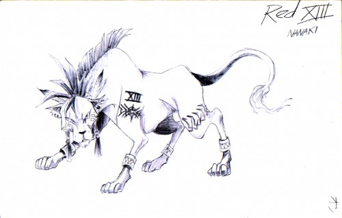 Square Enix, Final Fantasy VII, Red XIII, Member Art