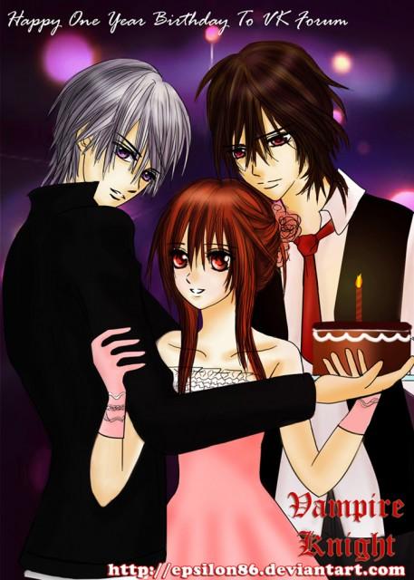 Vampire Knight, Zero Kiryuu, Kaname Kuran, Yuuki Cross, Member Art