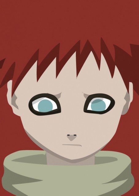 Studio Pierrot, Naruto, Gaara, Vector Art, Member Art