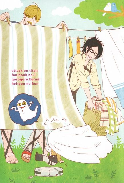 Shingeki no Kyojin, Mike Zacharius, Hange Zoe, Levi Ackerman, Doujinshi