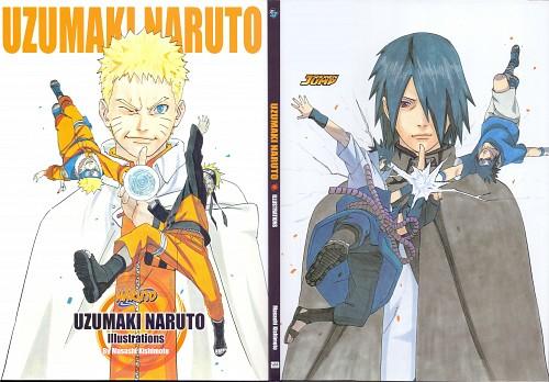 Masashi Kishimoto, Naruto, Sasuke Uchiha, Naruto Uzumaki, Artbook Cover