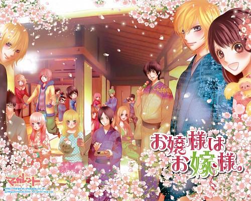Megumi Hazuki, Ojousama wa Oyomesama, Yuuga Takatou, Towako Gokurakuin, Official Wallpaper