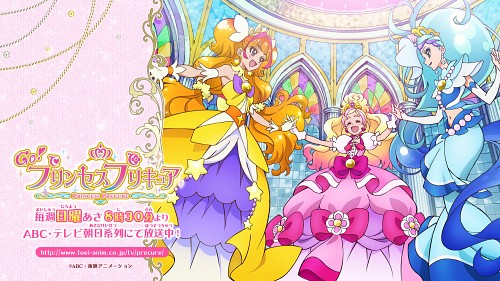 Toei Animation, Go! Princess Precure, Cure Twinkle, Cure Mermaid, Cure Flora