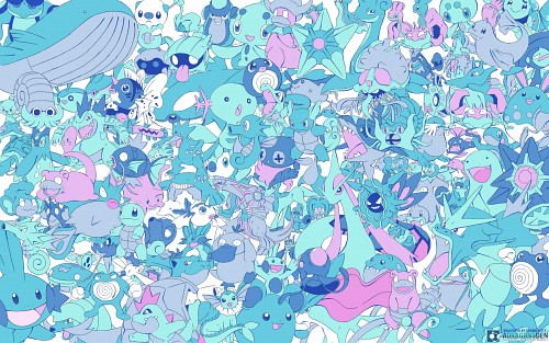 OLM Digital Inc, Nintendo, Pokemon, Horsea, Poliwrath Wallpaper