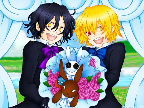 Jun Mochizuki, Xebec, Pandora Hearts, Vincent Nightray, Gilbert Nightray Wallpaper