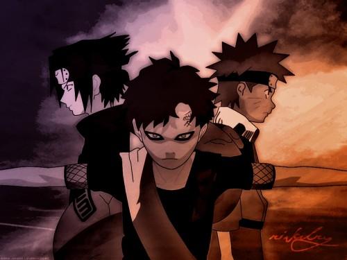 Masashi Kishimoto, Studio Pierrot, Naruto, Sasuke Uchiha, Gaara Wallpaper