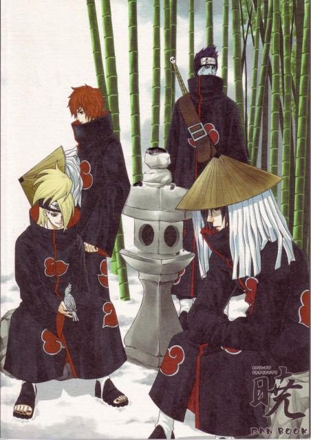 Naruto, Itachi Uchiha, Deidara, Sasori, Kisame Hoshigaki