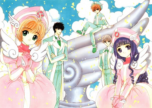 CLAMP, Cardcaptor Sakura, Cardcaptor Sakura Illustrations Collection 1, Tomoyo Daidouji, Sakura Kinomoto