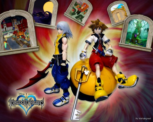 Square Enix, Kingdom Hearts, Sora, Riku, Kairi Wallpaper