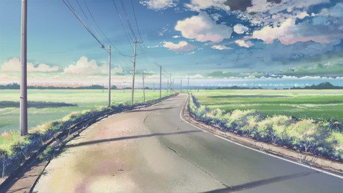 Makoto Shinkai, Five Centimeters Per Second, Official Wallpaper