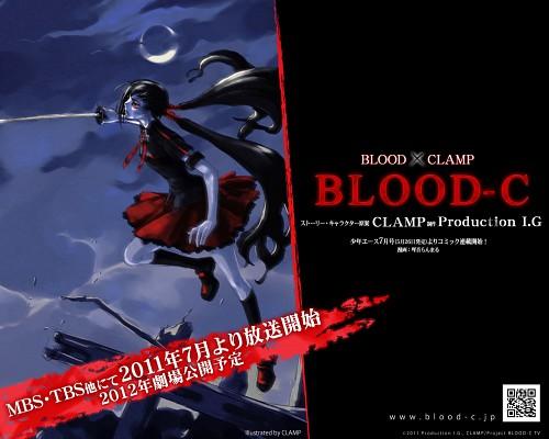 CLAMP, BLOOD-C, Saya Kisaragi, Official Wallpaper