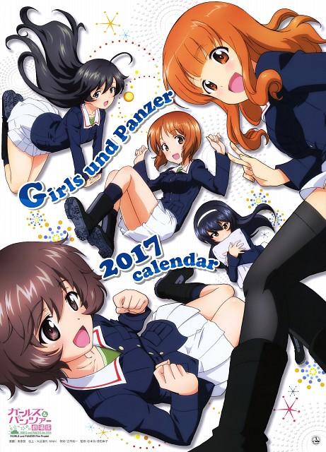 Noboru Jitsuhara, Actas, GIRLS und PANZER, Girls Und Panzer 2017 Calendar, Miho Nishizumi