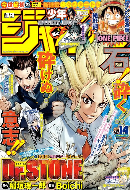 Boichi, Dr. Stone, One Piece, Monkey D. Luffy, Magazine Covers