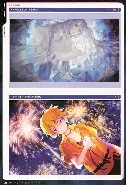 Project Diva F & F Memorial Fan Book, Vocaloid, Rin Kagamine, Luka Megurine