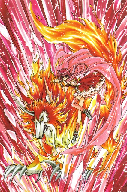CLAMP, Magic Knight Rayearth, Magic Knight Rayearth Illustrations Collection, Rayearth (Character), Hikaru Shidou