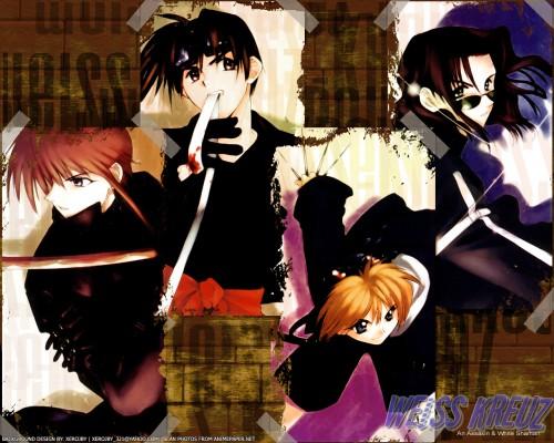Kyoko Tsuchiya, Weiss Kreuz, Omi Tsukiyono, Youji Kudou, Ken Hidaka Wallpaper
