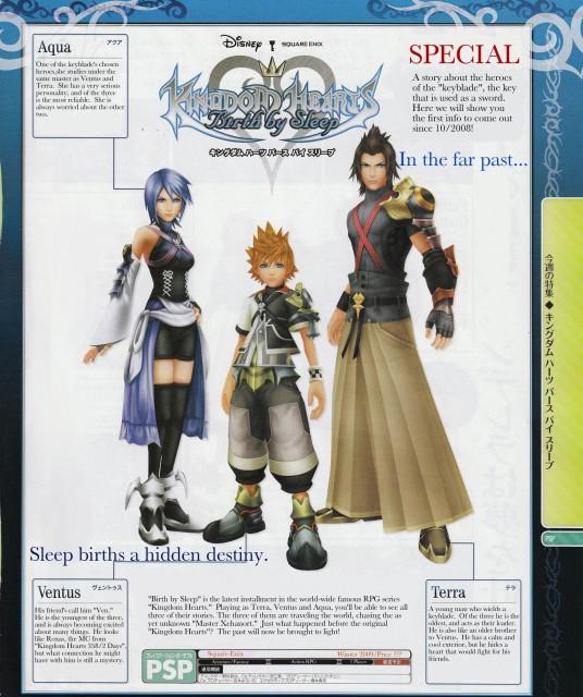 Square Enix, Kingdom Hearts, Terra, Aqua (Kingdom Hearts), Ventus