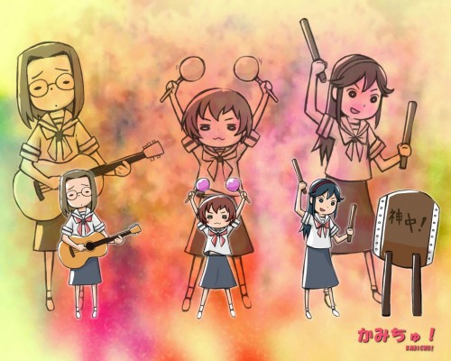 Brains Base, Kamichu, Yurie Hitotsubashi, Mitsue Shijo, Matsuri Saegusa Wallpaper