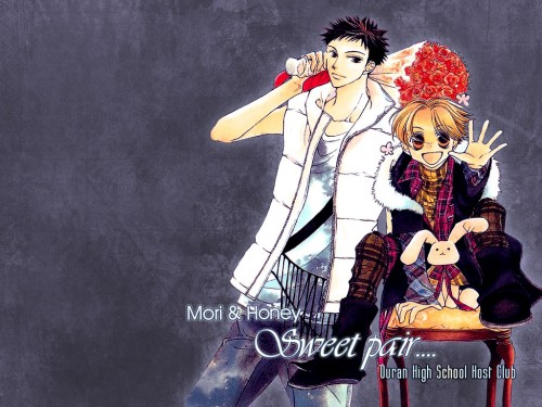 Hatori Bisco, BONES, Ouran High School Host Club, Takashi Morinozuka, Mitsukuni Haninozuka Wallpaper