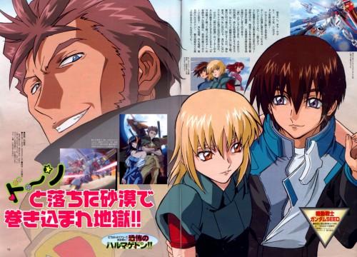 Sunrise (Studio), Mobile Suit Gundam SEED, Andrew Waltfeld, Cagalli Yula Athha, Kira Yamato