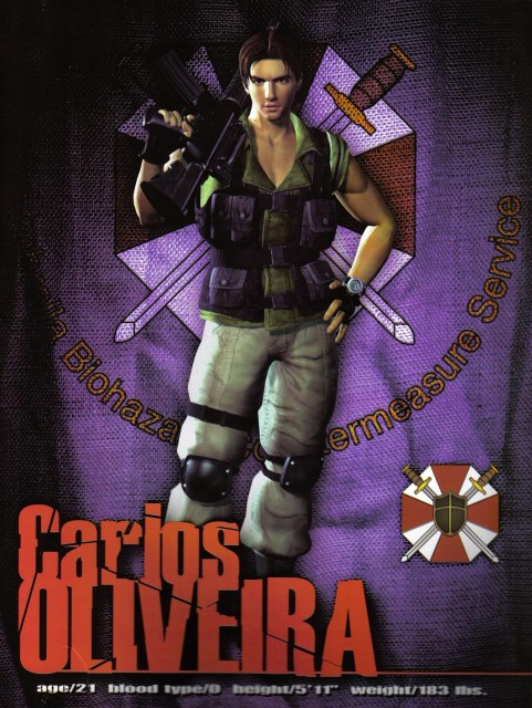 Capcom, Resident Evil 3: Nemesis, Carlos Olivera