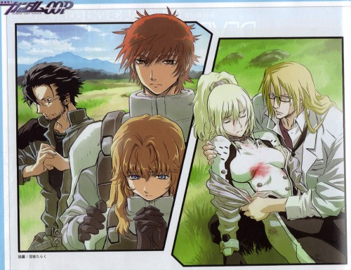 Taraku Uon, Mobile Suit Gundam 00P, Chall Acustica, Ian Vashti, Joyce Moreno