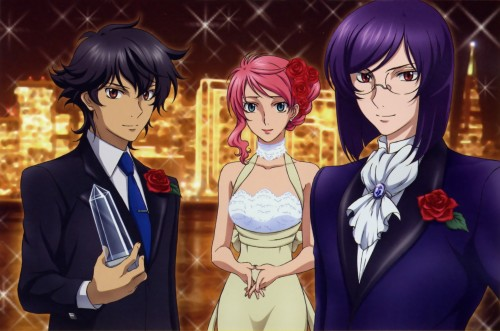 Mobile Suit Gundam 00, Tieria Erde, Feldt Grace, Setsuna F. Seiei, Animedia