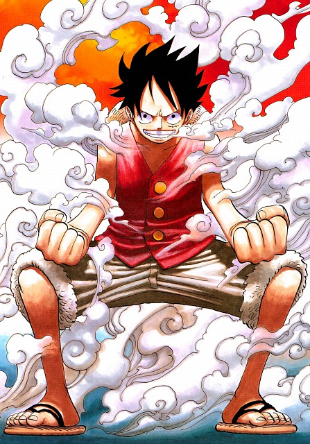 Eiichiro Oda, Toei Animation, One Piece, Color Walk 5 - Shark, Monkey D. Luffy